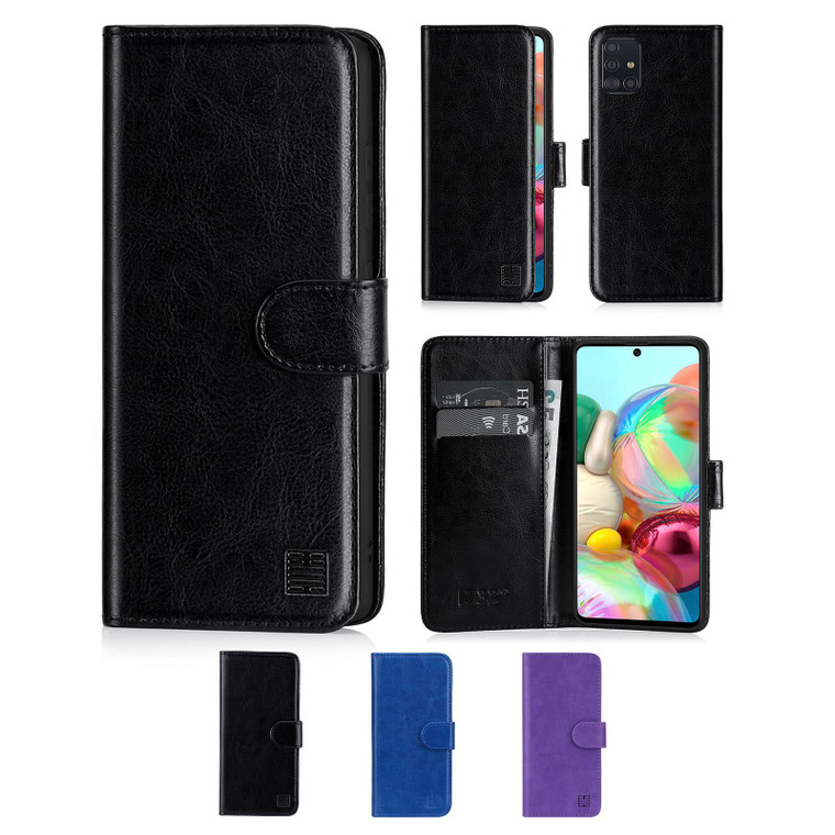 Samsung Galaxy A71 (2020) 'Book Series' PU Leather Wallet Case Cover