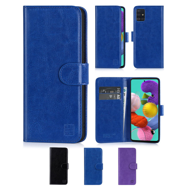 Samsung Galaxy A51 (2020) 'Book Series' PU Leather Wallet Case Cover