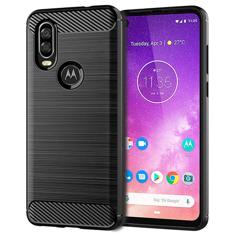 Motorola Moto One Action 'Carbon Series' Slim Case Cover