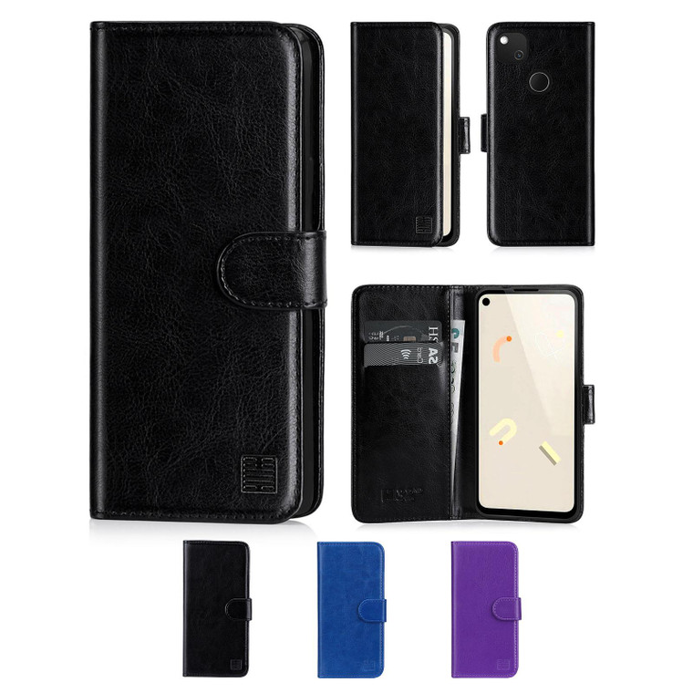 Google Pixel 4A 'Book Series' PU Leather Wallet Case Cover