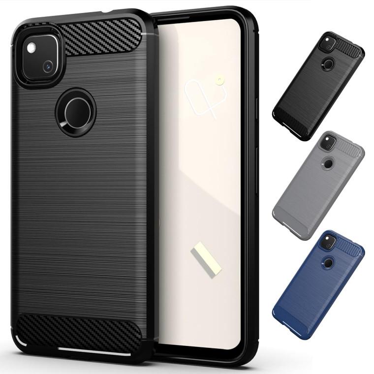 Google Pixel 4A 'Carbon Series' Slim Case Cover