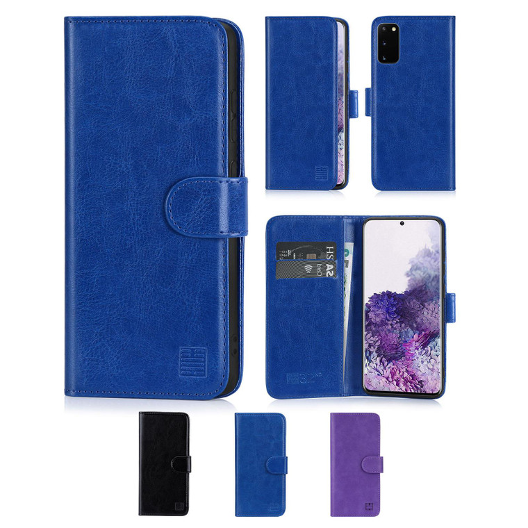Samsung Galaxy S20 'Book Series' PU Leather Wallet Case Cover