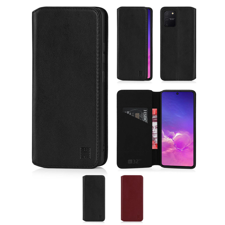 Samsung Galaxy S10 Lite 'Classic Series 2.0' Real Leather Book Wallet Case