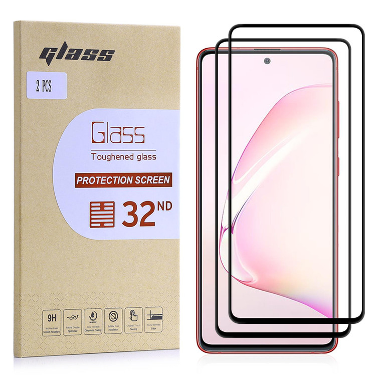 Samsung Galaxy Note 10 Lite Tempered Glass Screen Protector - 2 Pack