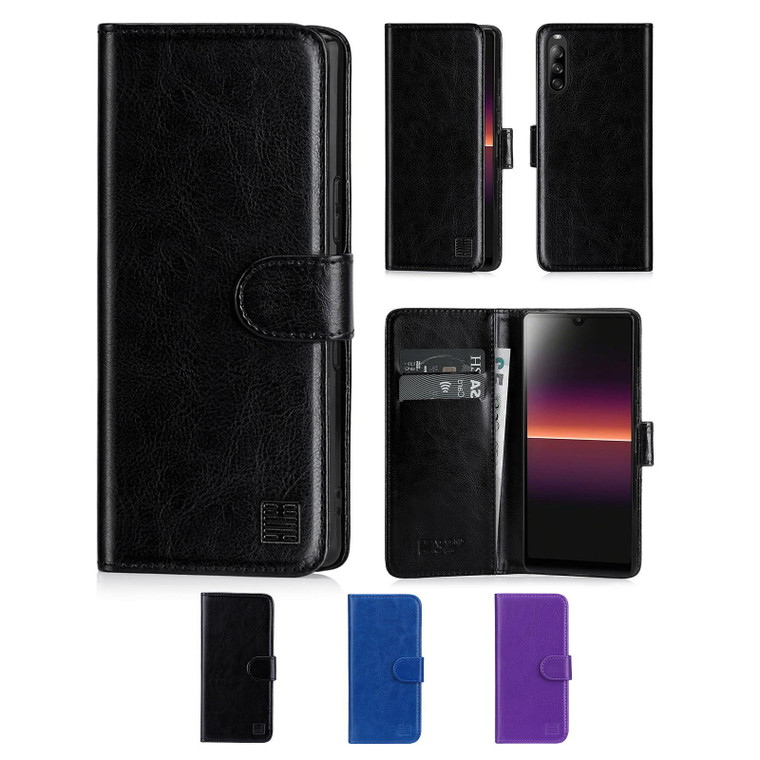 Sony Xperia L4 'Book Series' PU Leather Wallet Case Cover