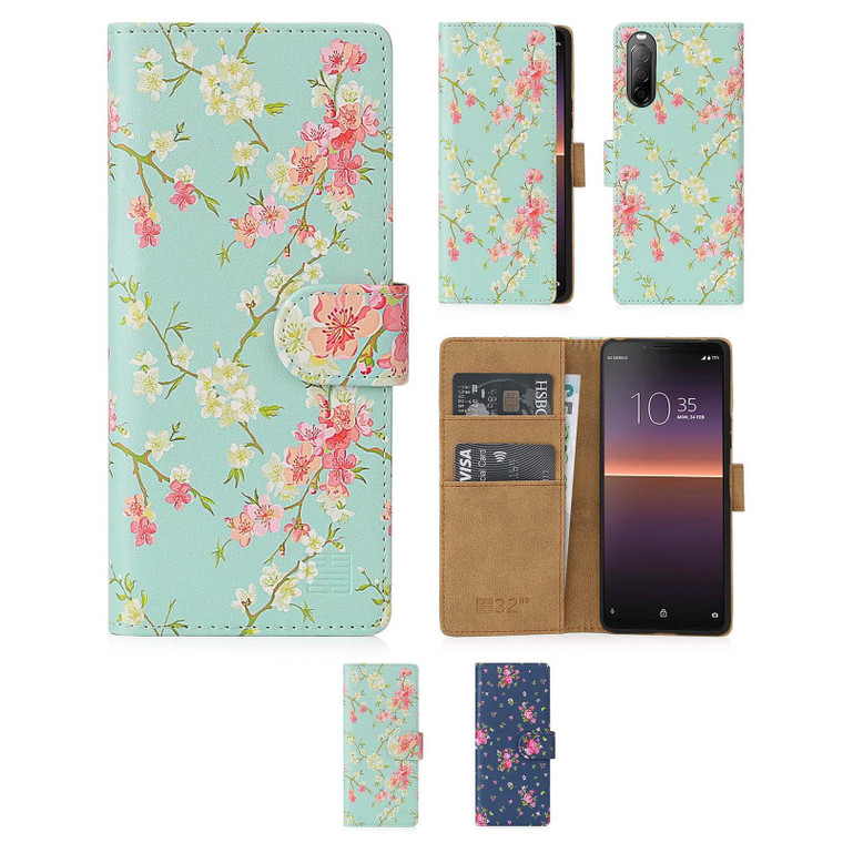 Sony Xperia 10 II (2020) 'Floral Series 2.0' PU Leather Design Book Wallet Case