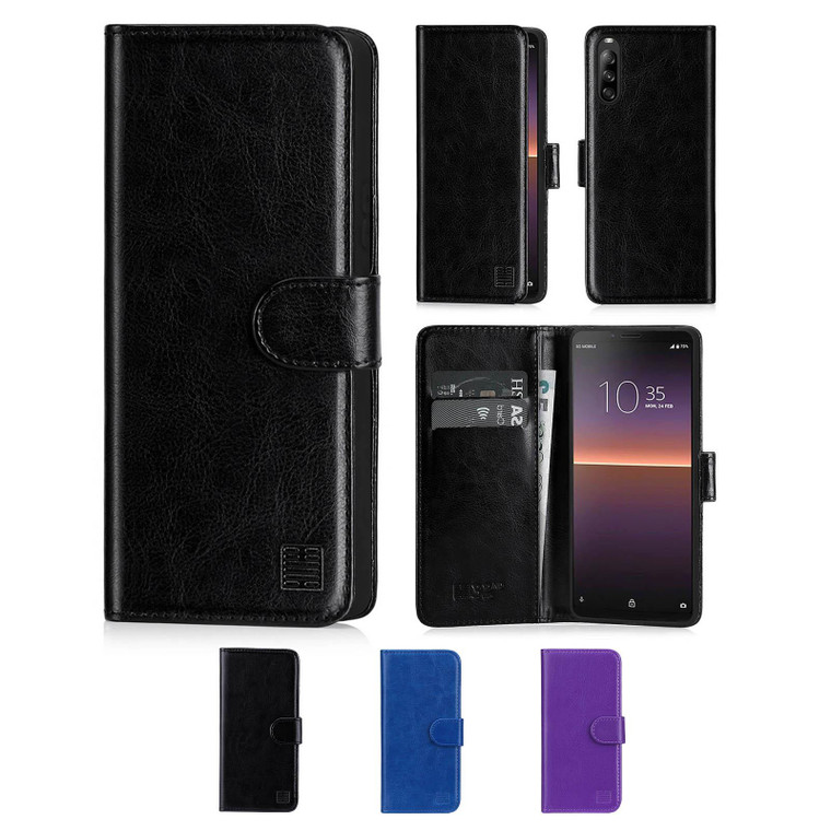 Sony Xperia 10 II (2020) 'Book Series' PU Leather Wallet Case Cover