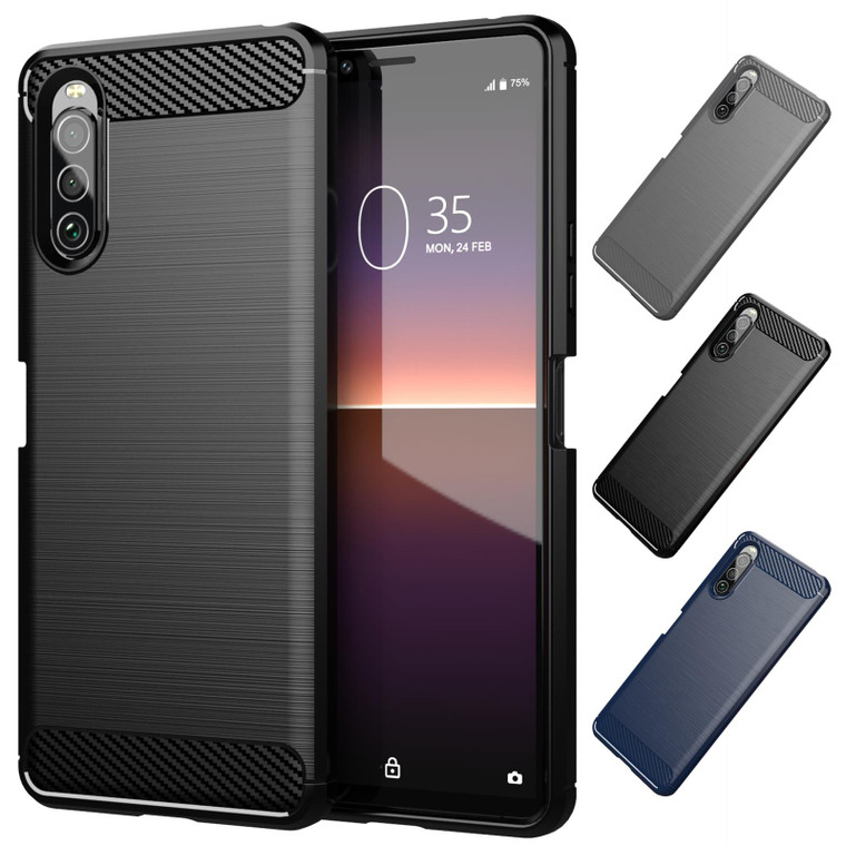 Sony Xperia 10 II (2020) 'Carbon Series' Slim Case Cover