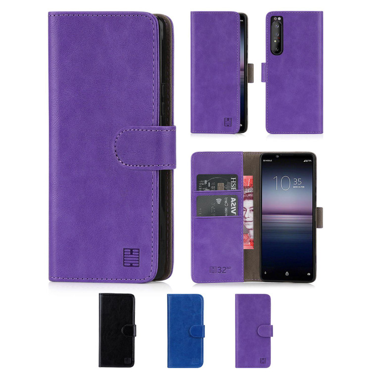 Sony Xperia 1 II (2020) 'Book Series' PU Leather Wallet Case Cover