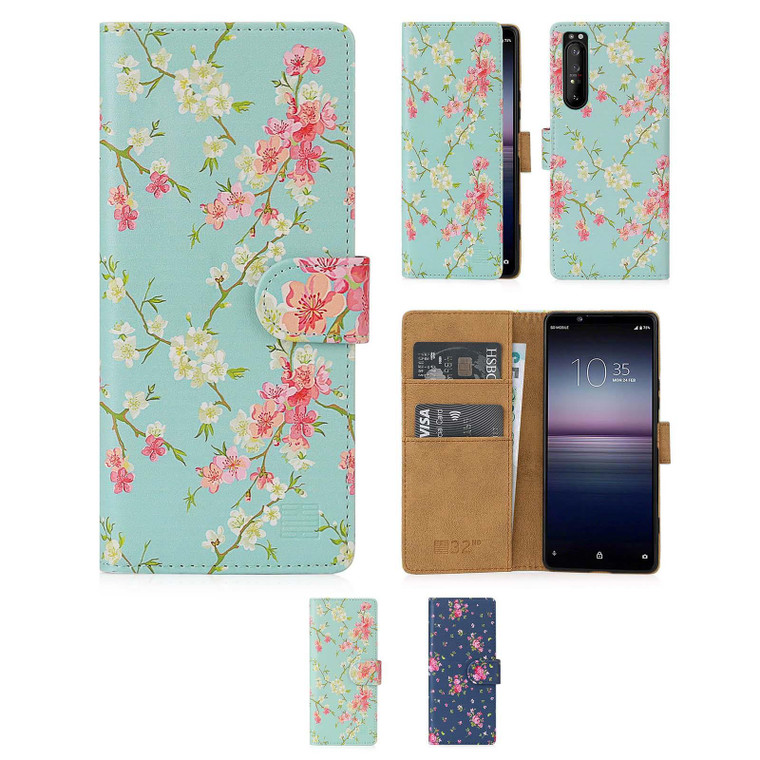 Sony Xperia 1 II (2020) 'Floral Series 2.0' PU Leather Design Book Wallet Case