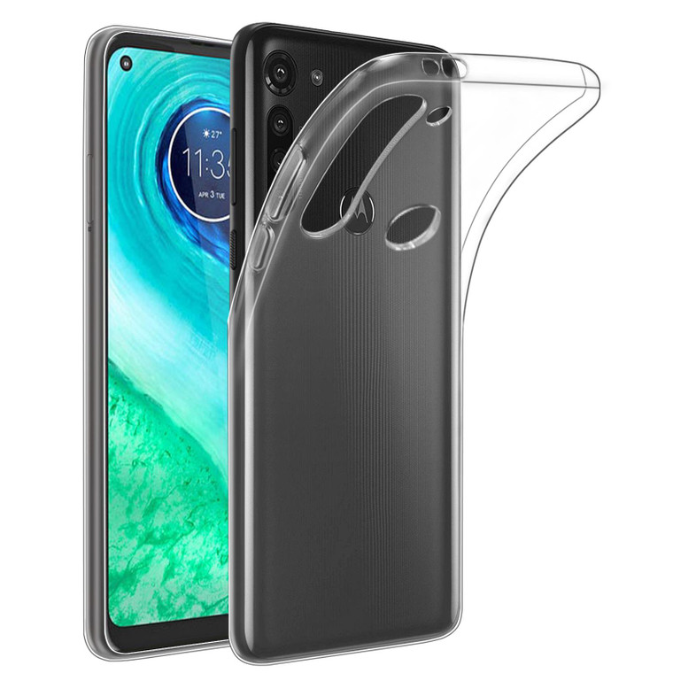 Motorola Moto G8 'Clear Gel Series' TPU Case Cover - Clear