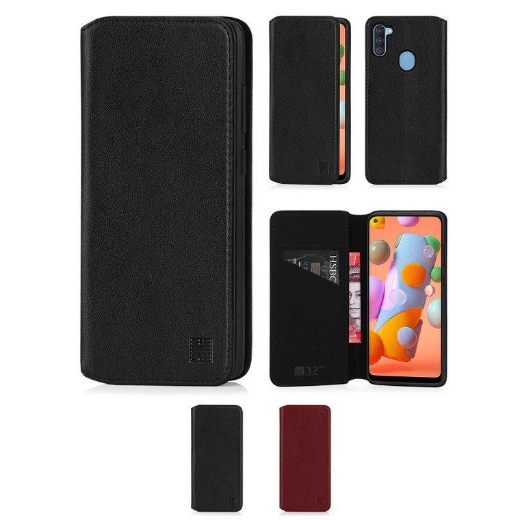 Samsung Galaxy A11 (2020) 'Classic Series 2.0' Real Leather Book Wallet Case