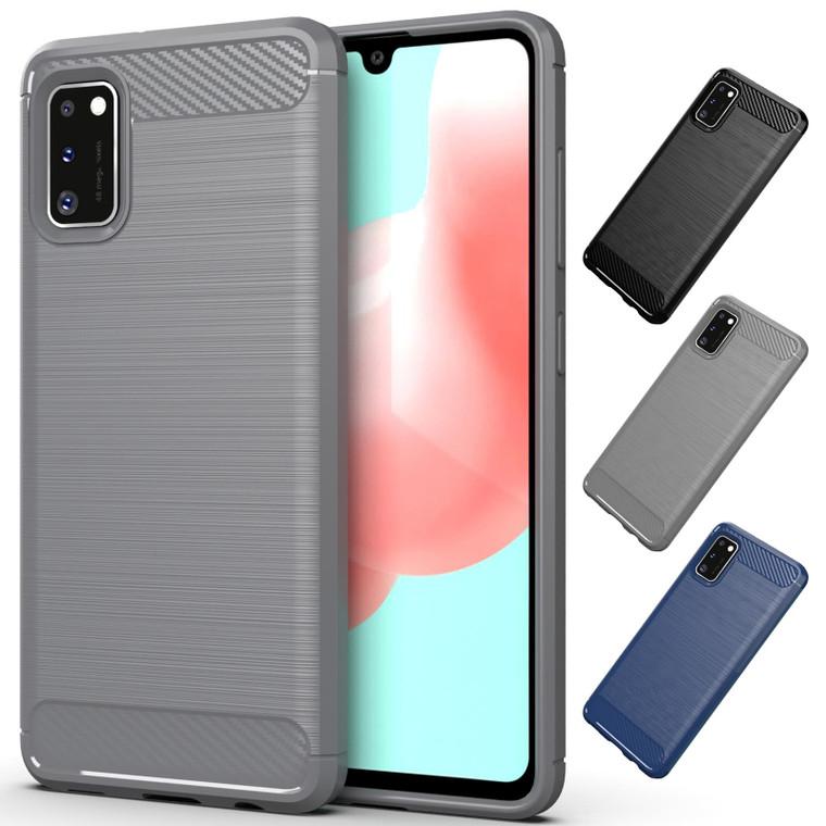 Samsung Galaxy A41 (2020) 'Carbon Series' Slim Case Cover