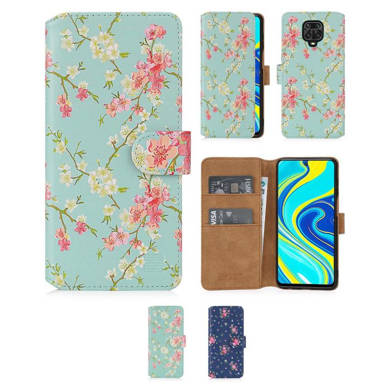 Xiaomi Redmi Note 9 Pro, Redmi Note 9 Pro Max & Redmi Note 9S 'Floral Series 2.0' PU Leather Design Book Wallet Case