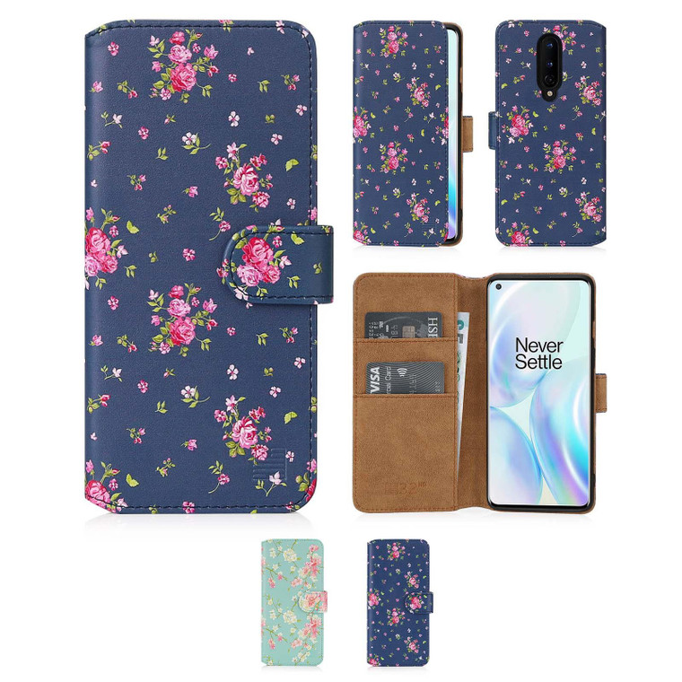 OnePlus 8 'Floral Series 2.0' PU Leather Design Book Wallet Case
