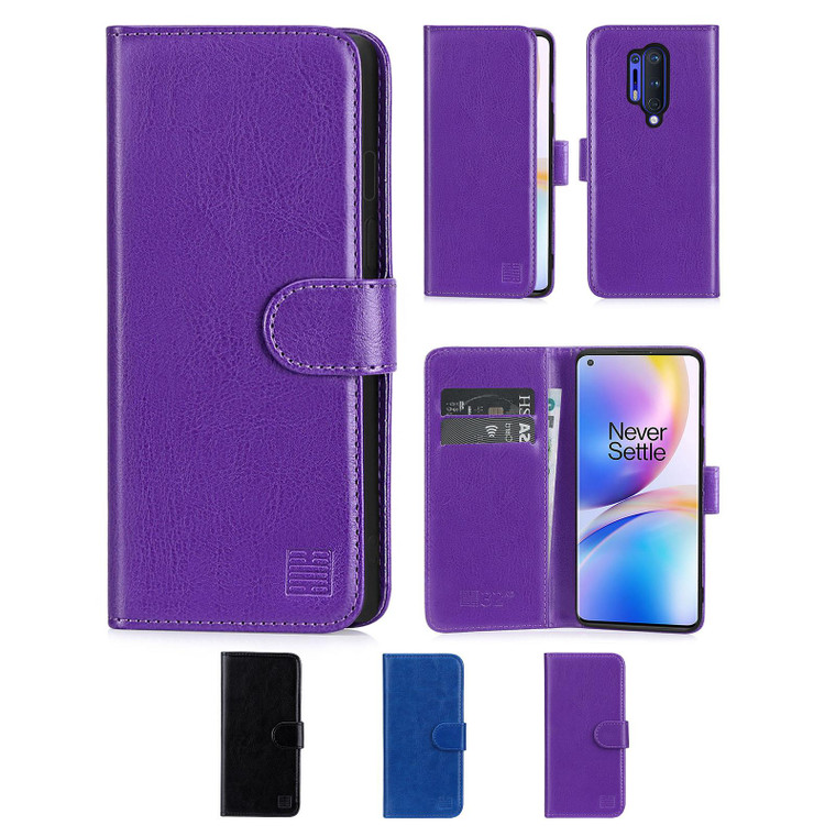 OnePlus 8 Pro 'Book Series' PU Leather Wallet Case Cover