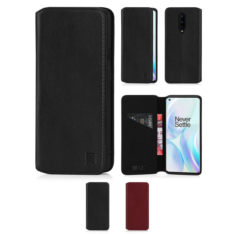 OnePlus 8 'Classic Series 2.0' Real Leather Book Wallet Case