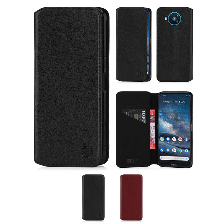 Nokia 8.3 (2020) 'Classic Series 2.0' Real Leather Book Wallet Case
