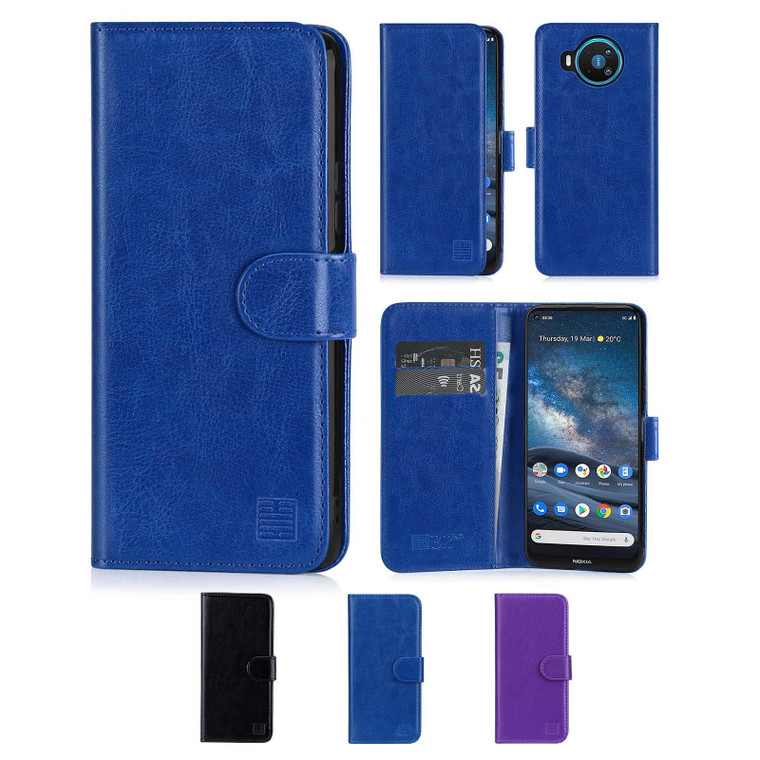 Nokia 8.3 (2020) 'Book Series' PU Leather Wallet Case Cover