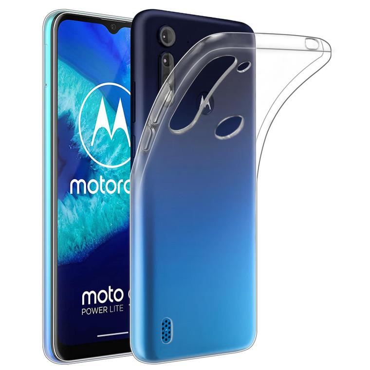 Motorola Moto G8 Power Lite 'Clear Gel Series' TPU Case Cover - Clear