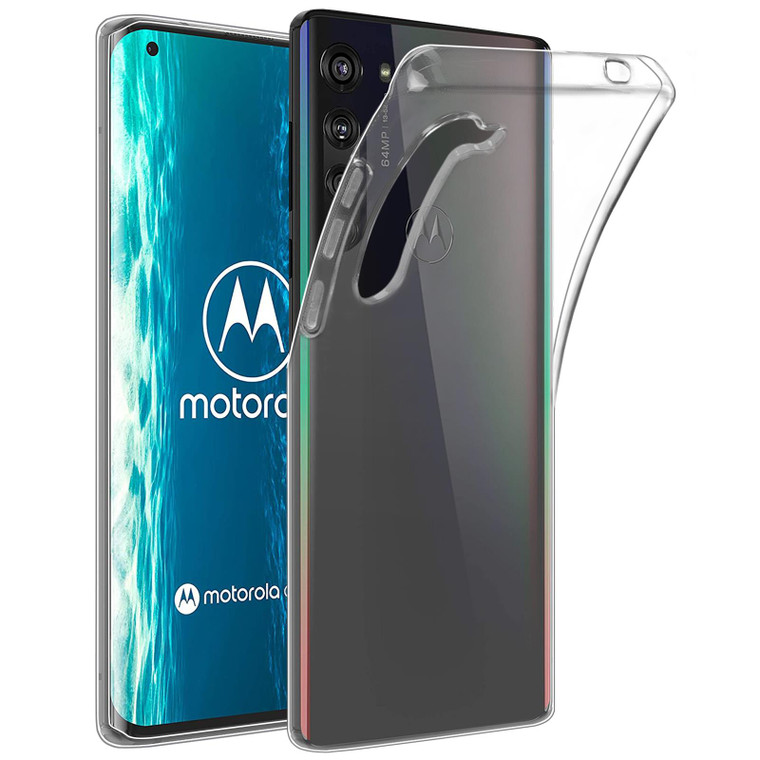 Motorola Moto Edge (2020) 'Clear Gel Series' TPU Case Cover - Clear