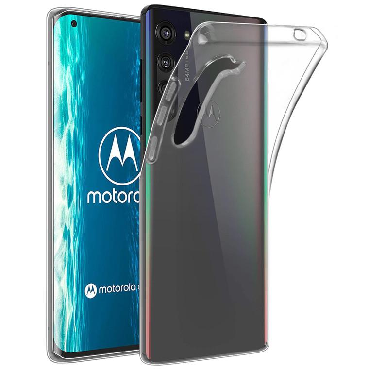 Motorola Moto Edge 'Clear Gel Series' TPU Case Cover - Clear