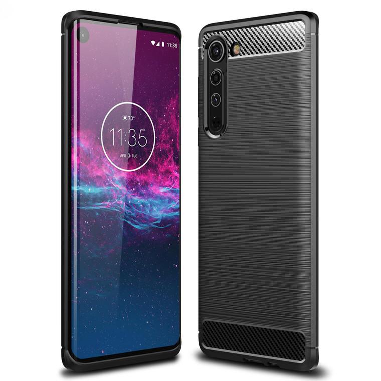 Motorola Moto Edge (2020) 'Carbon Series' Slim Case Cover