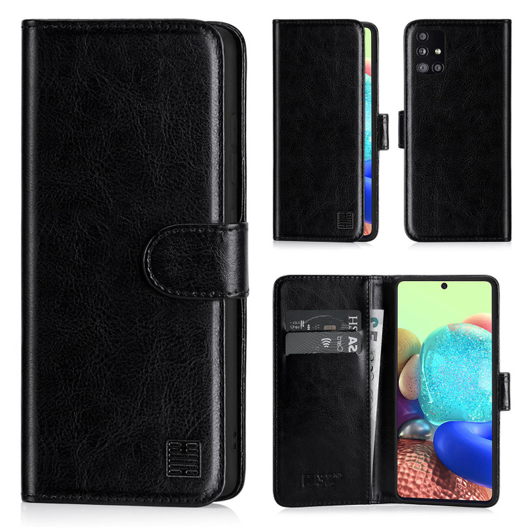 Samsung Galaxy A71 5G (2020) 'Book Series' PU Leather Wallet Case Cover