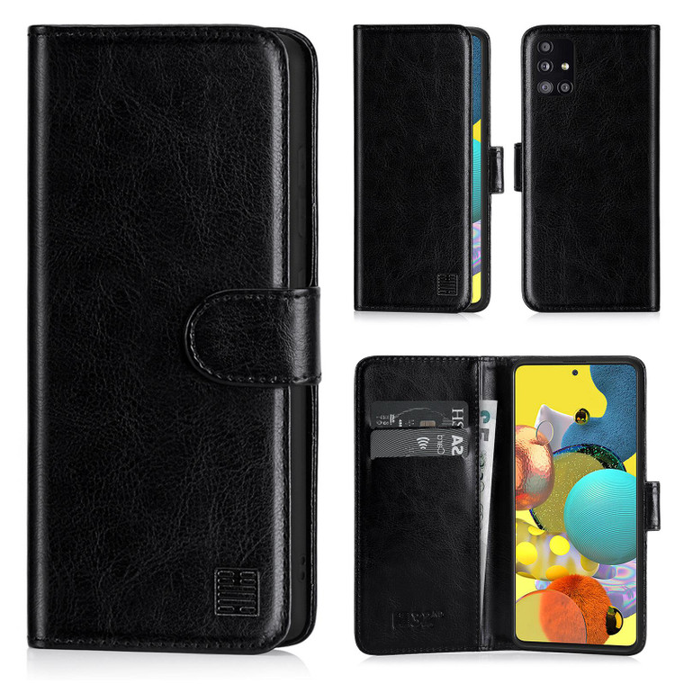 Samsung Galaxy A51 5G (2020) 'Book Series' PU Leather Wallet Case Cover