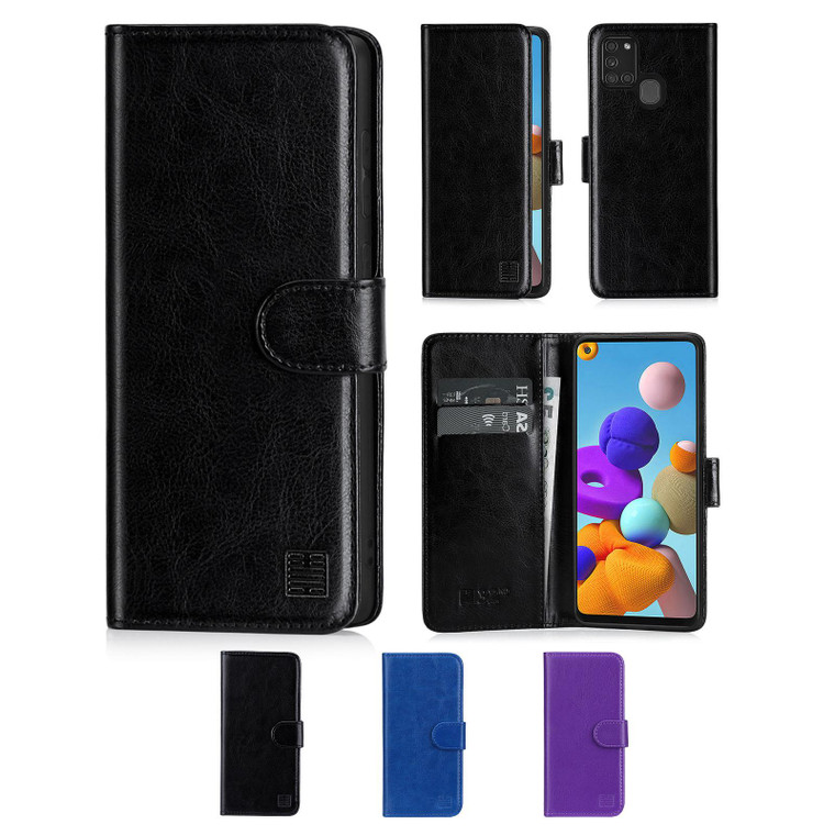 Samsung Galaxy A21S (2020) 'Book Series' PU Leather Wallet Case Cover