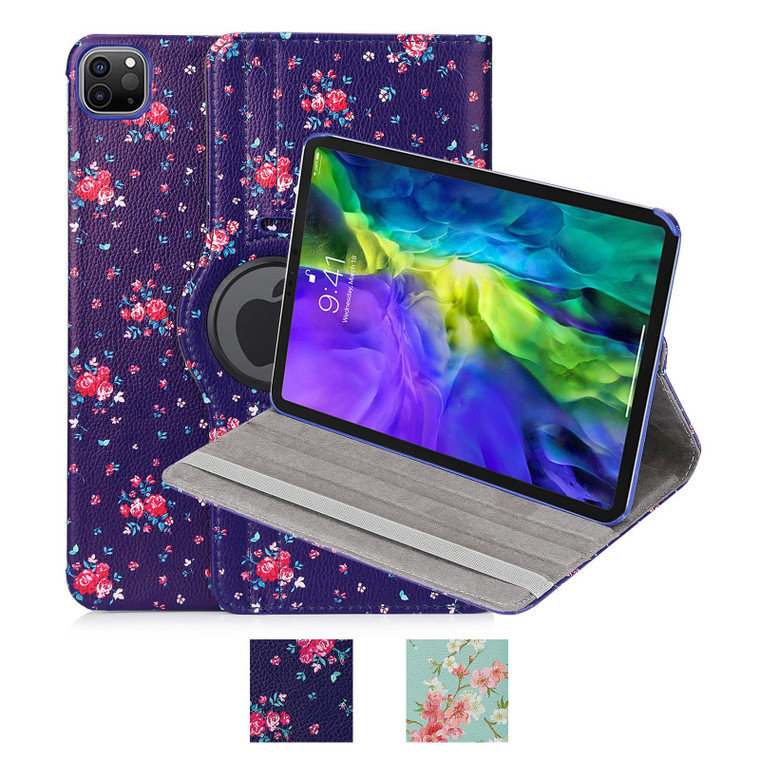 """Apple iPad Pro 11"""" (2020  / 2021) / Air 4 (2020) 'Floral Series' PU Leather Design 360 Tablet Case"""