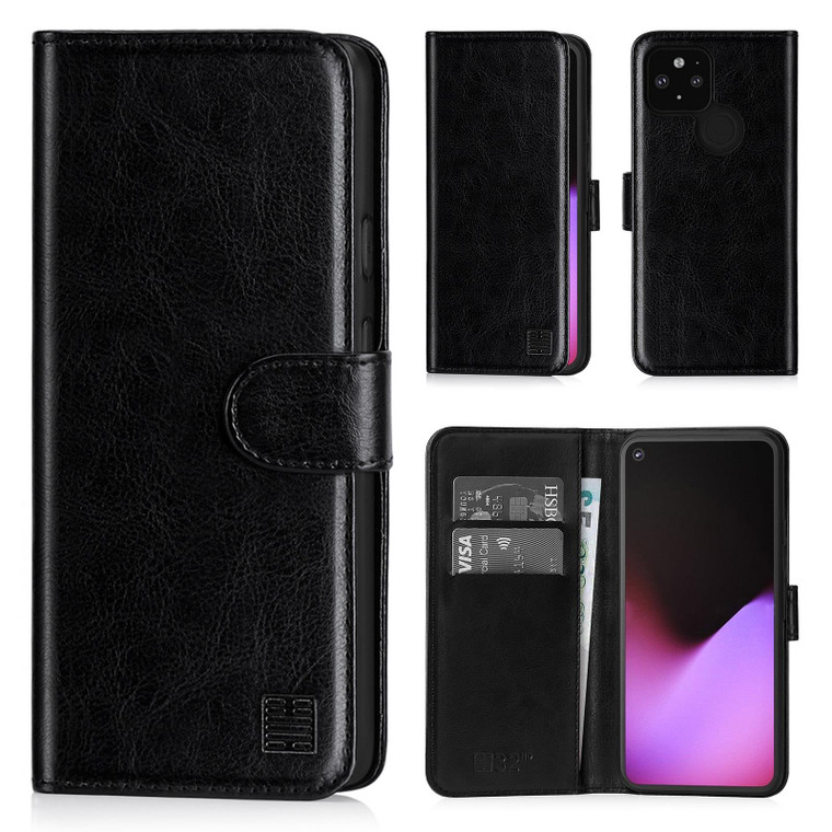 Google Pixel 5 'Book Series' PU Leather Wallet Case Cover