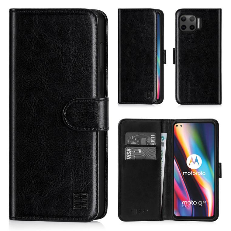 Motorola Moto G 5G Plus (2020) 'Book Series' PU Leather Wallet Case Cover