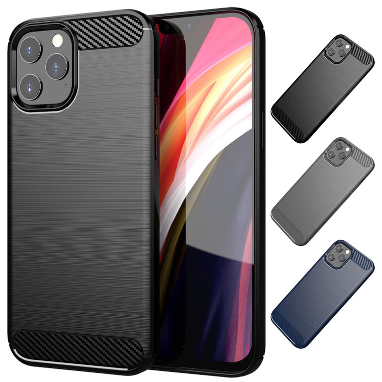 "Apple iPhone 12 Pro Max (6.7"") 'Carbon Series' Slim Case Cover"