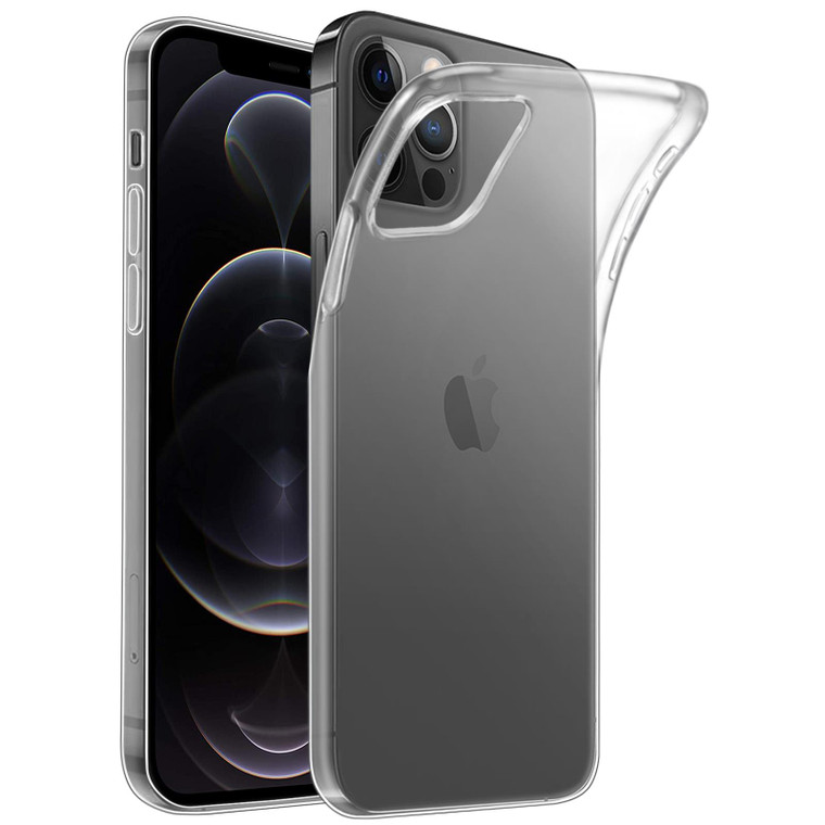 Apple iPhone 12 Pro Max (6.7) 'Clear Gel Series' TPU Case Cover - Clear
