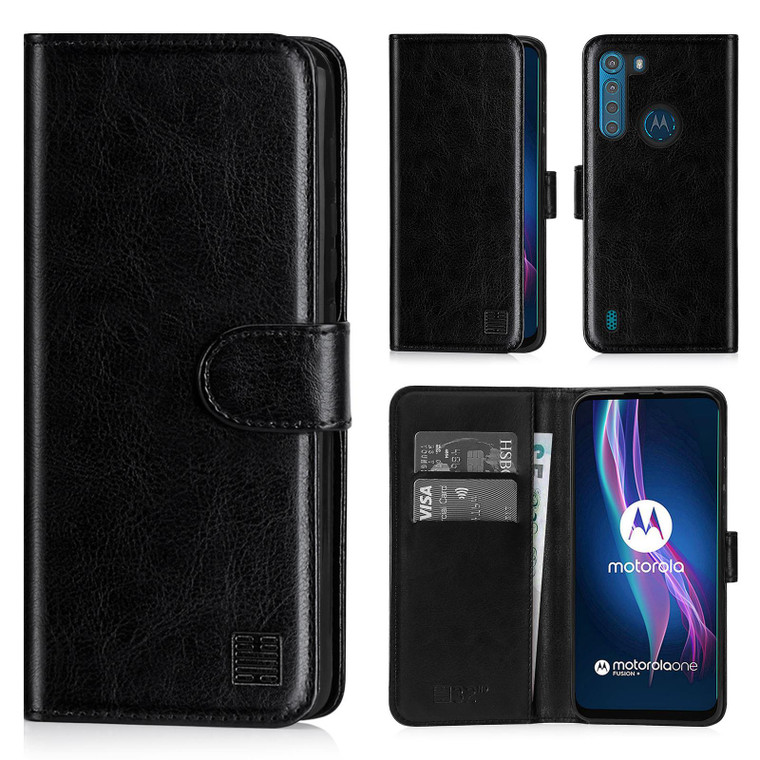 Motorola Moto One Fusion Plus 'Book Series' PU Leather Wallet Case Cover