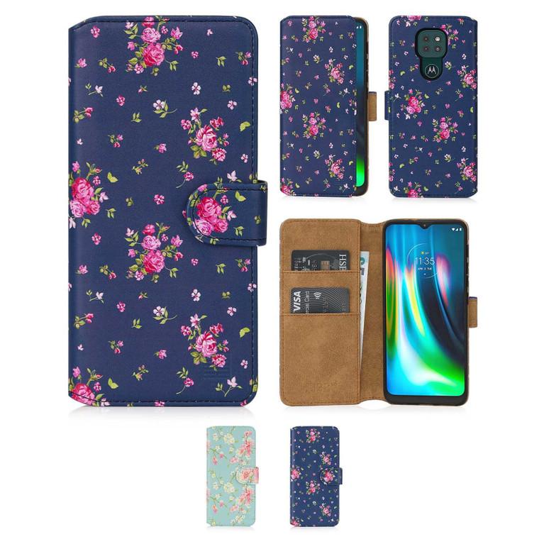 Motorola Moto G9 & G9 Play 'Floral Series 2.0' PU Leather Design Book Wallet Case