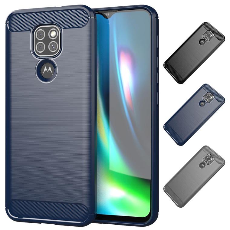 Motorola Moto G9 & G9 Play 'Carbon Series' Slim Case Cover