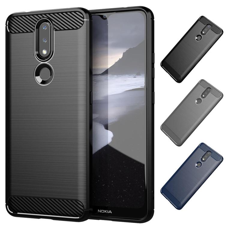 Nokia 2.4 'Carbon Series' Slim Case Cover