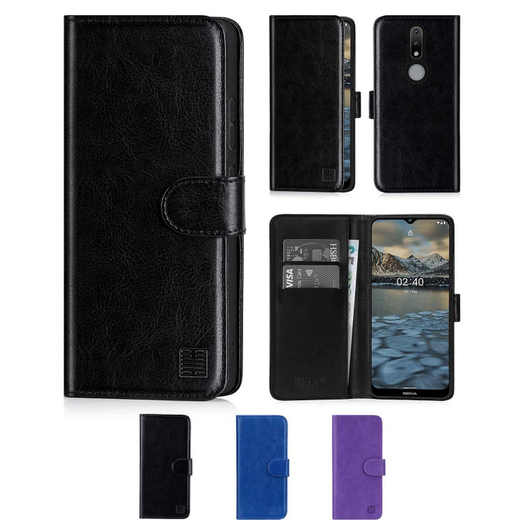 Nokia 2.4 'Book Series' PU Leather Wallet Case Cover