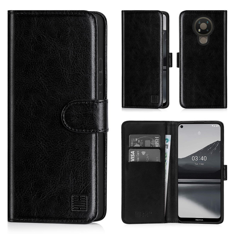 Nokia 3.4 'Book Series' PU Leather Wallet Case Cover