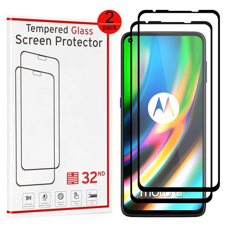 Motorola Moto G9 Plus Tempered Glass Screen Protector - 2 Pack