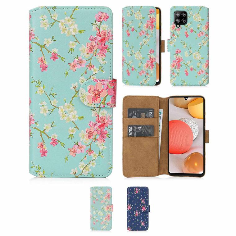 Samsung Galaxy A42 5G (2020) 'Floral Series 2.0' PU Leather Design Book Wallet Case