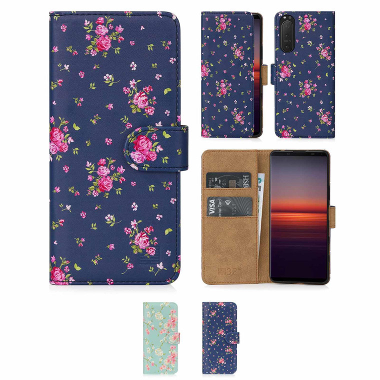 Sony Xperia 5 II (2020) 'Floral Series 2.0' PU Leather Design Book Wallet Case