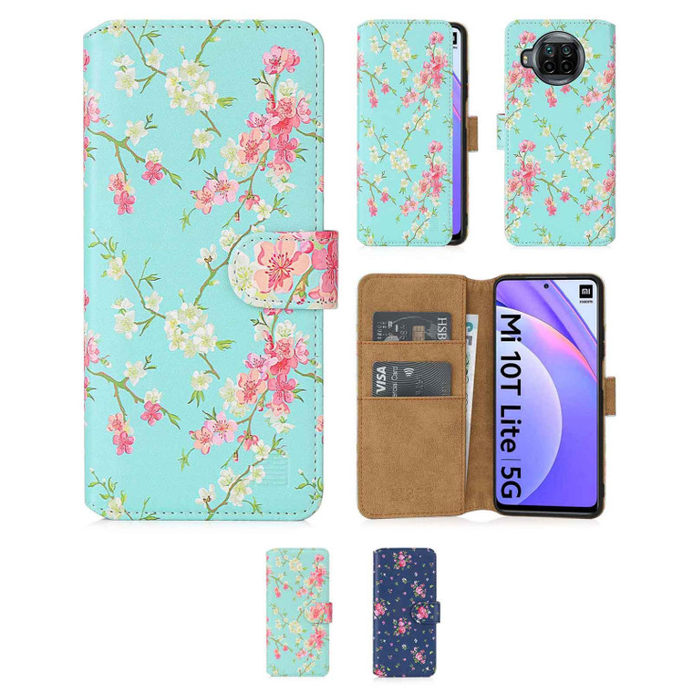 Xiaomi Mi 10T Lite / Mi 10i 5G / Redmi Note 9 Pro 5G 'Floral Series 2.0' PU Leather Design Book Wallet Case