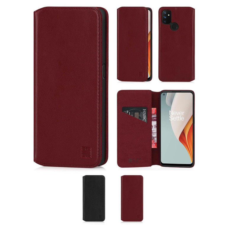 OnePlus Nord N100 'Classic Series 2.0' Real Leather Book Wallet Case