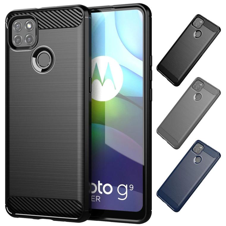 Motorola Moto G9 Power 'Carbon Series' Slim Case Cover