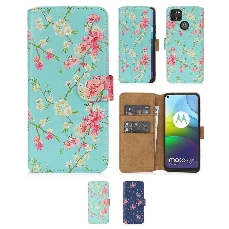 Motorola Moto G9 Power 'Floral Series 2.0' PU Leather Design Book Wallet Case