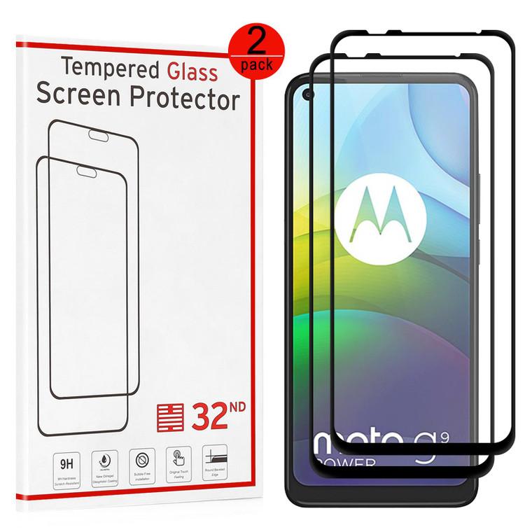 Motorola Moto G9 Power Tempered Glass Screen Protector - 2 Pack