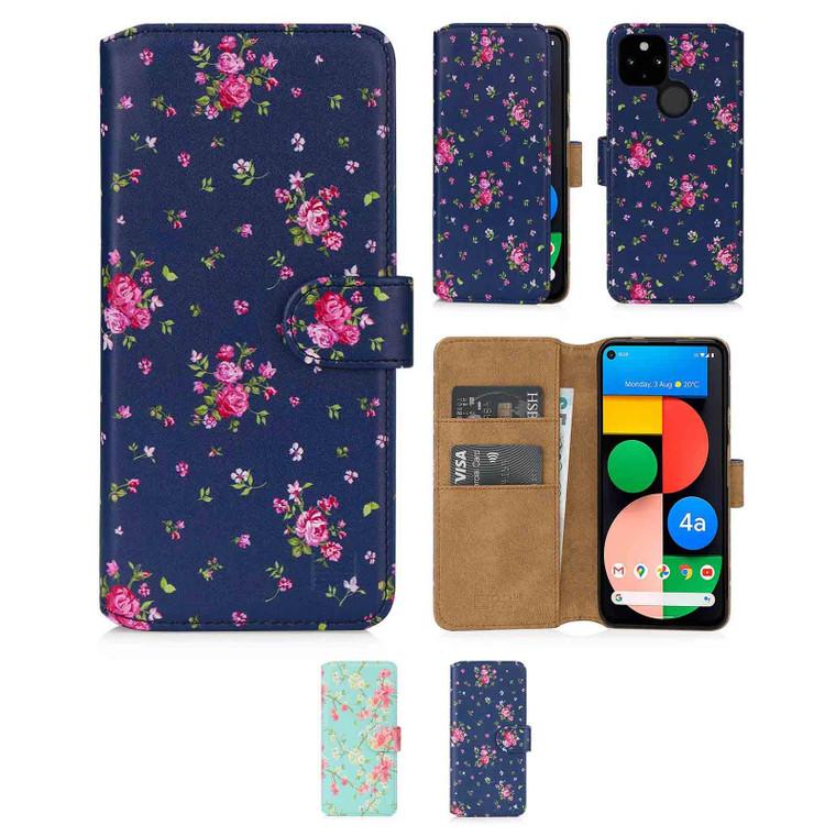Google Pixel 4A 5G 'Floral Series 2.0' PU Leather Design Book Wallet Case